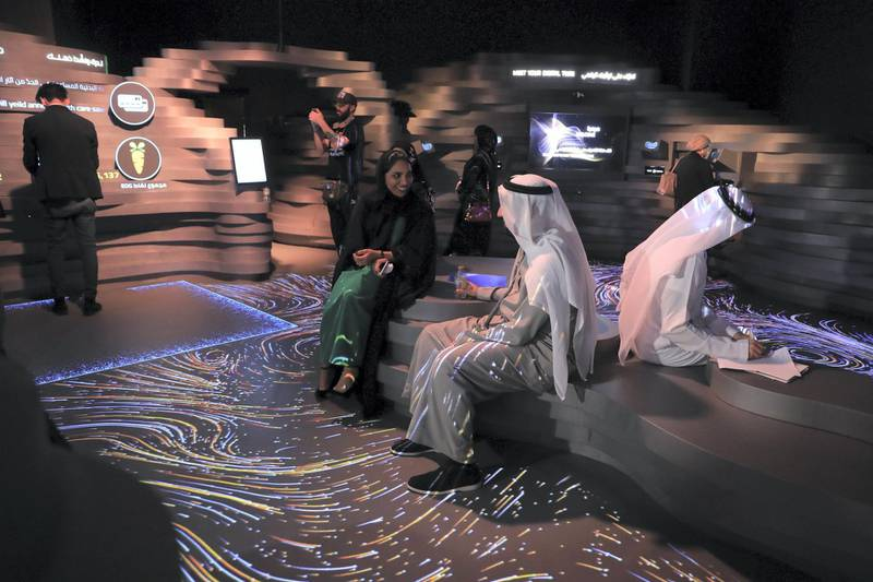Dubai, U.A.E., February 10, 2019.  World Government Summit, Edge of Government Exhibition.Victor Besa/The NationalSection:  NAReporter: