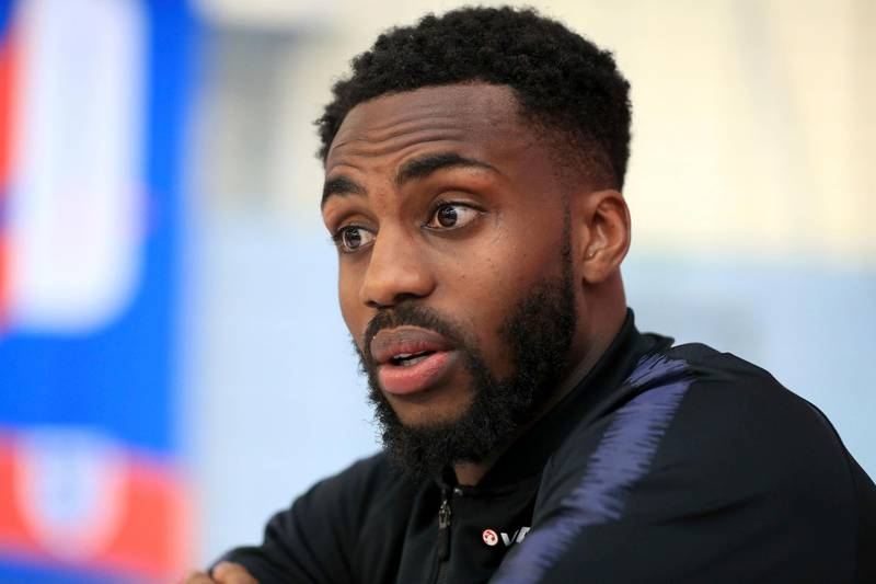 England's Danny Rose speaks during the media day at St George's Park, Burton, England Tuesday June 5, 2018 as they prepare for their final friendly before departing for the World Cup in Russia. (Mike Egerton/PA via AP)