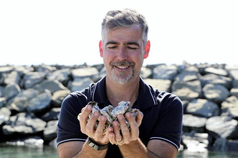 Fujairah, United Arab Emirates - Reporter: Kelly Clark. News. Ramie Murray. Founder of Dibba Bay Oysters. Visit to the Dibba Bay Oysters farm in Fujairah. Dibba, Fujairah. Wednesday, January 13th, 2021. Chris Whiteoak / The National