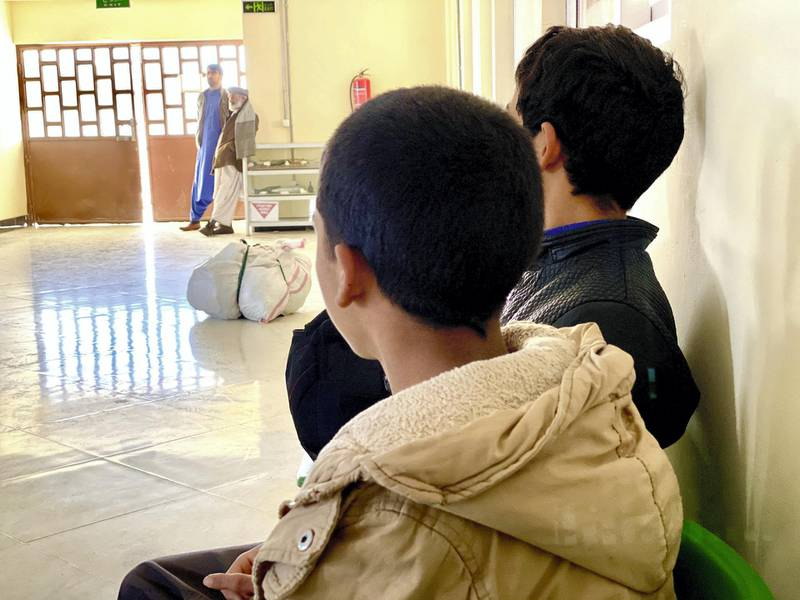 IMG_0764: Brothers Bilal and Abdul Mohammadi, [not their real names], age 13 and 12 respectively, are among the several hundred unaccompanied Afghan minors who were detained and deported by Iran this year. Many young Afghan boys are sent to Iran by their families to escape the growing violence and help supplement the family income. [Photo: Hikmat Noori]