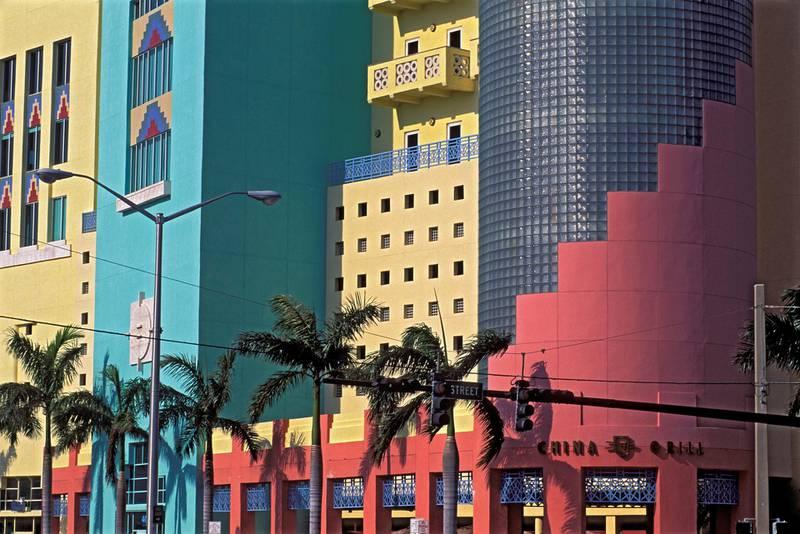 FLORIDA, UNITED STATES - 2000/01/01: USA, Florida, Miami Beach, Art Deco District, House. (Photo by Wolfgang Kaehler/LightRocket via Getty Images)