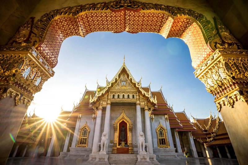Bangkok City - Benchamabophit  dusitvanaram temple from Bangkok Thailand. Courtesy Four Seasons