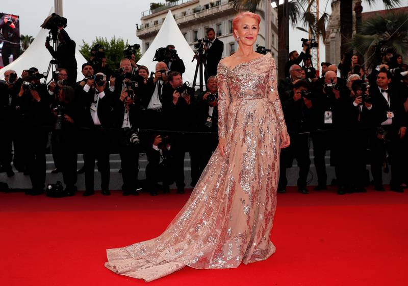epa07581939 Helen Mirren arrives for the screening of 'Les Plus Belles Annees d'une Vie' (The Best Years of a Life) during the 72nd annual Cannes Film Festival, in Cannes, France, 18 May 2019. The movie is presented in the Official Competition of the festival which runs from 14 to 25 May.  EPA-EFE/IAN LANGSDON