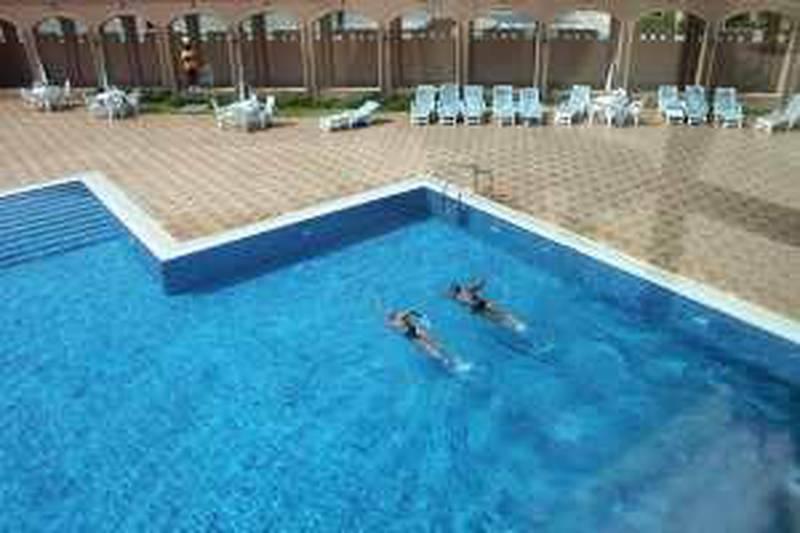 United Arab Emirates - Abu Dhabi - Spetember 1st, 2009:  The swimming pool at Sas Al Nakhl in Abu Dhabi.  (Galen Clarke/The national)