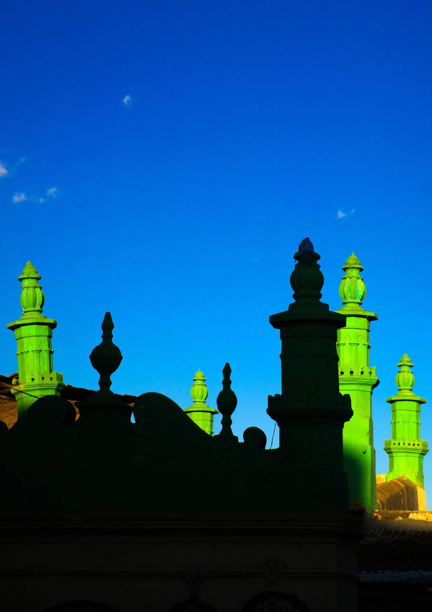 HARAR, ETHIOPIA - MARCH 04: Minarets of a mosque in the old town, harari region, harar, Ethiopia on March 4, 2016 in Harar, Ethiopia. (Photo by Eric Lafforgue/Art in All of Us/Corbis via Getty Images)