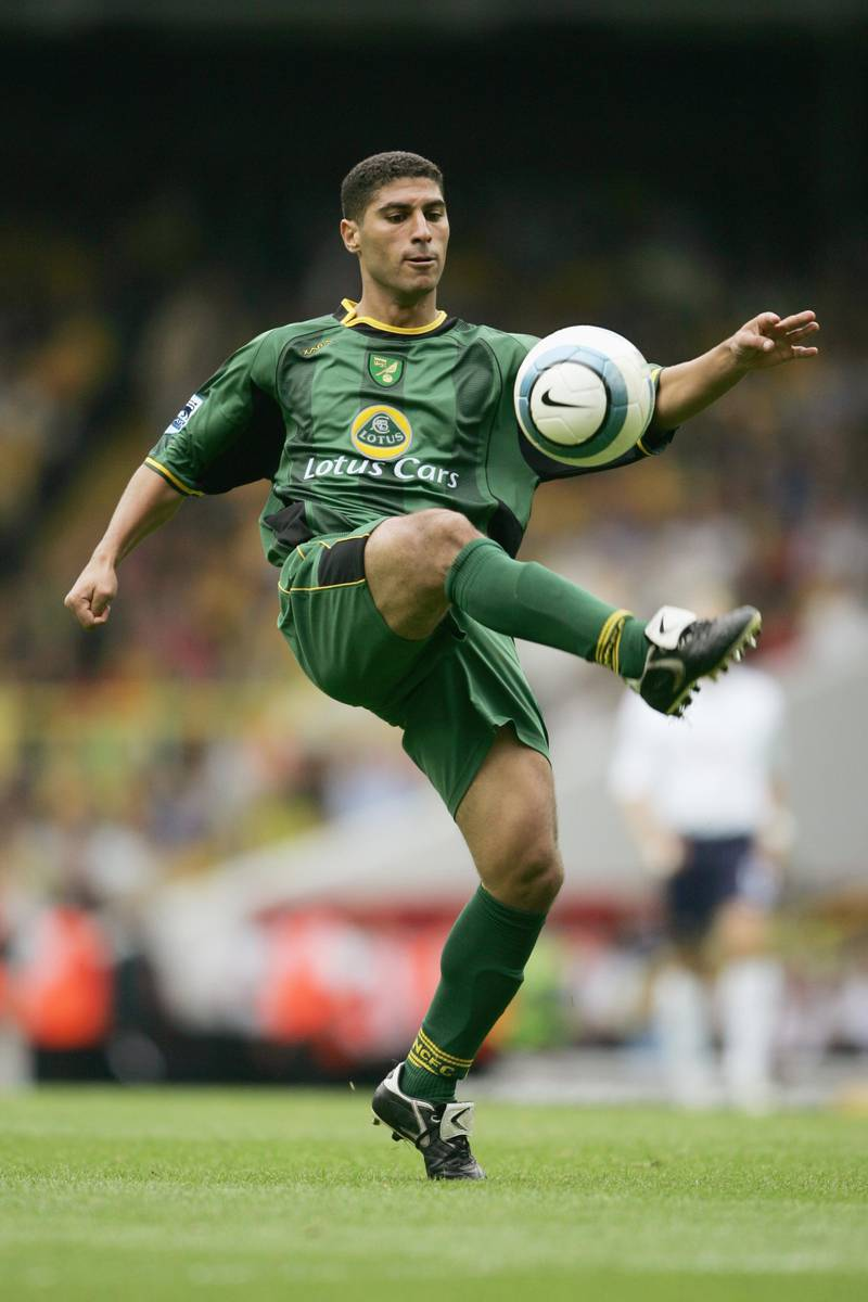 LONDON, ENGLAND - SEPTEMBER 12:  Youssef Safri of Norwich City controls the ball during the Barclays Premiership match between Tottenham Hotspur and Norwich City at White Hart Lane on September 12, 2004 in London, England.  (Photo by Shaun Botterill/Getty Images)