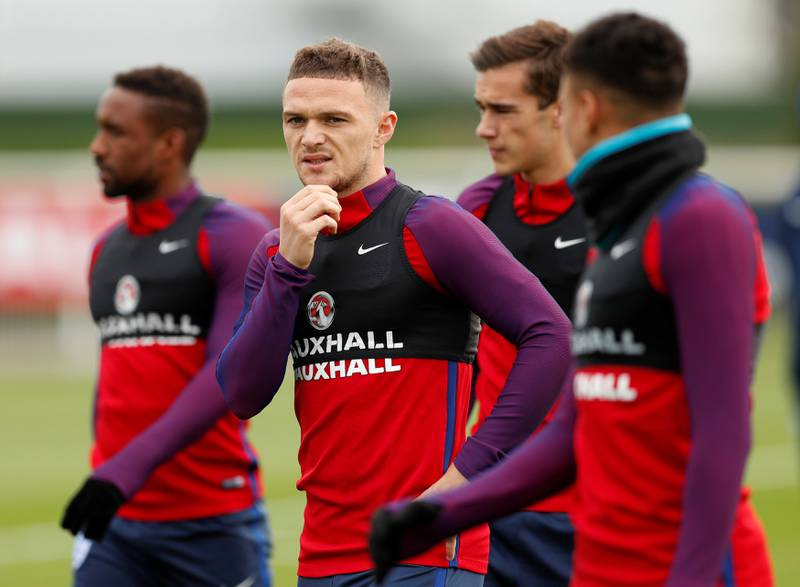 Soccer Football - 2018 World Cup Qualifications - Europe - England Training - Tottenham Hotspur Training Ground, London, Britain - October 4, 2017   England���s Kieran Trippier during training   Action Images via Reuters/John Sibley