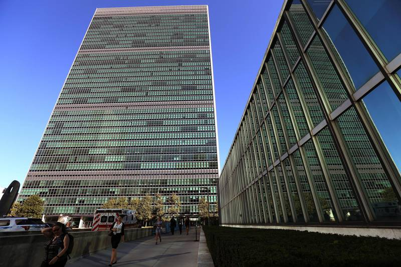 The United Nations Headquarters building is pictured during the 71st United Nations General Assembly in the Manhattan borough of New York, U.S., September 22, 2016. REUTERS/Carlo Allegri - S1BEUCVIQYAA