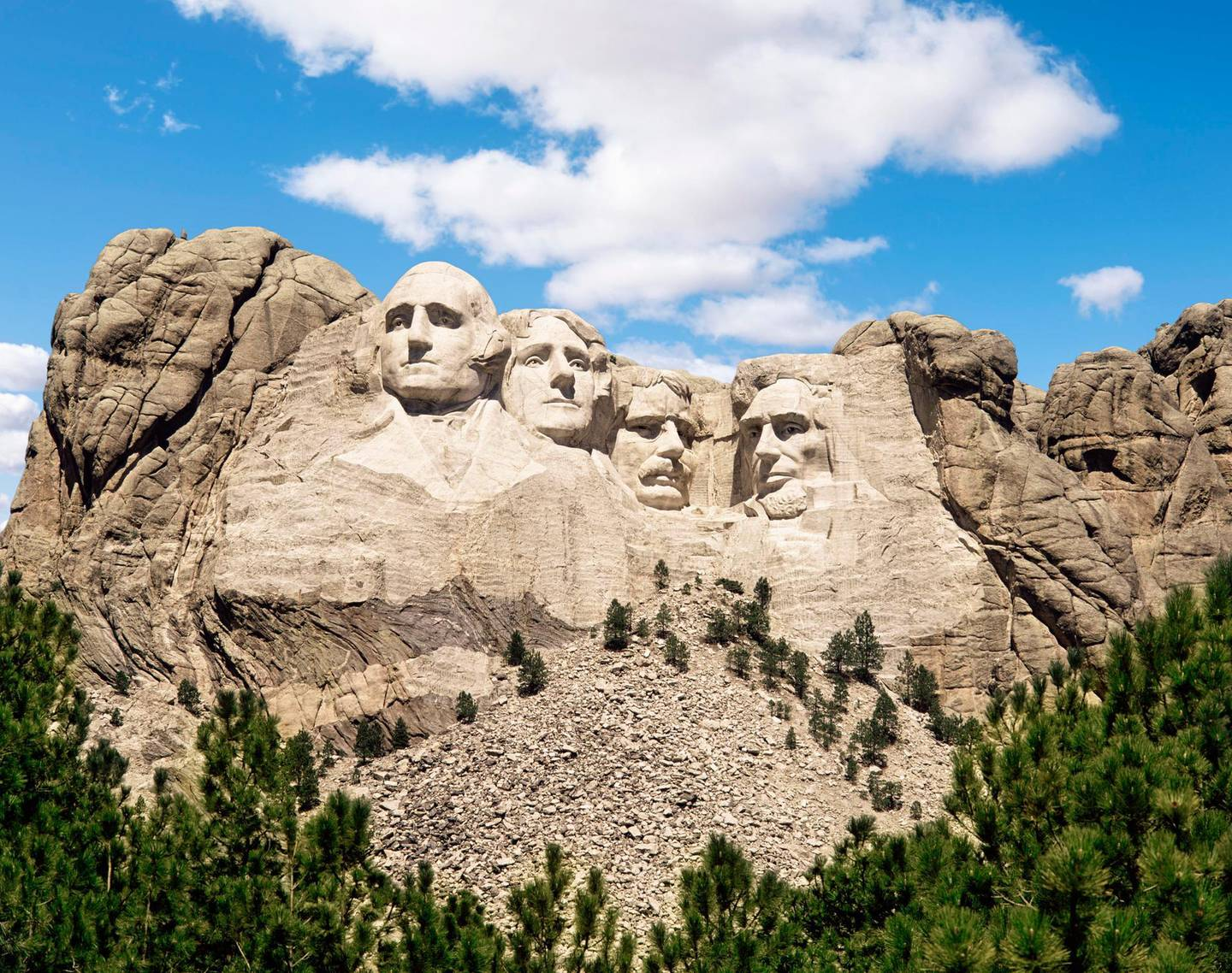 """""""Mount Rushmore monument under blue sky, South Dakota, United States"""". Getty Images"""