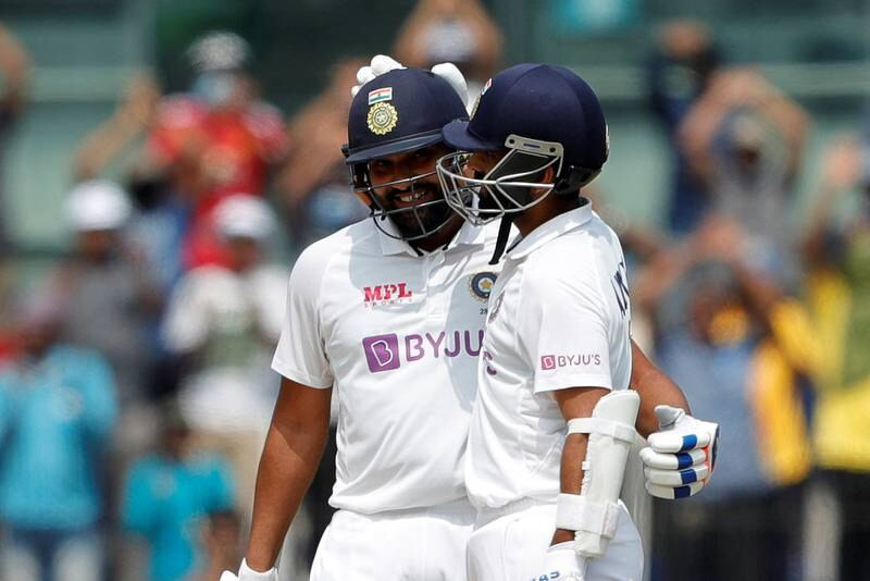 Rohit Sharma of India celebrates after scoring a hundred during day one of the second PayTM test match between India and England held at the Chidambaram Stadium stadium in Chennai, Tamil Nadu, India on the 13th February 2021  Photo by Saikat Das/ Sportzpics for BCCI