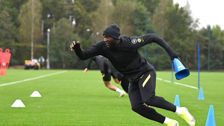 An image that illustrates this article Chelsea stars in training as Tuchel urges caution - in pictures