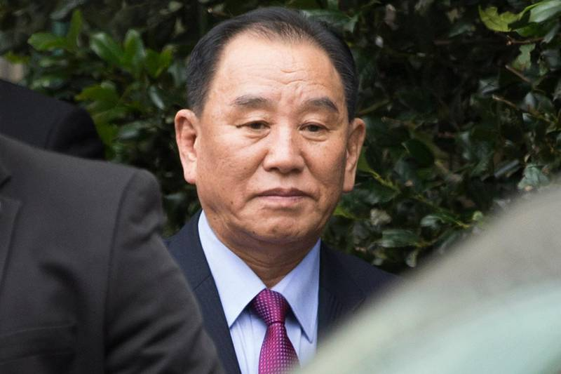 epa07297684 North Korea's Vice-Chairman of the Central Committee of the Workers' Party of Korea for South Korean affairs, Kim Yong Chol, departs a hotel after participating in a meeting there with US Secretary of State Mike Pompeo (unseen), in Washington, DC, USA, 18 January 2019. One of North Korea's top negotiators, Kim Yong Chol visits Washington carrying a letter from Kim Jong-un for US President Donald J. Trump, according to South Korean media reports. Speculation regarding a possible second summit between the two nations is that it could be held in Vietnam.  EPA/MICHAEL REYNOLDS