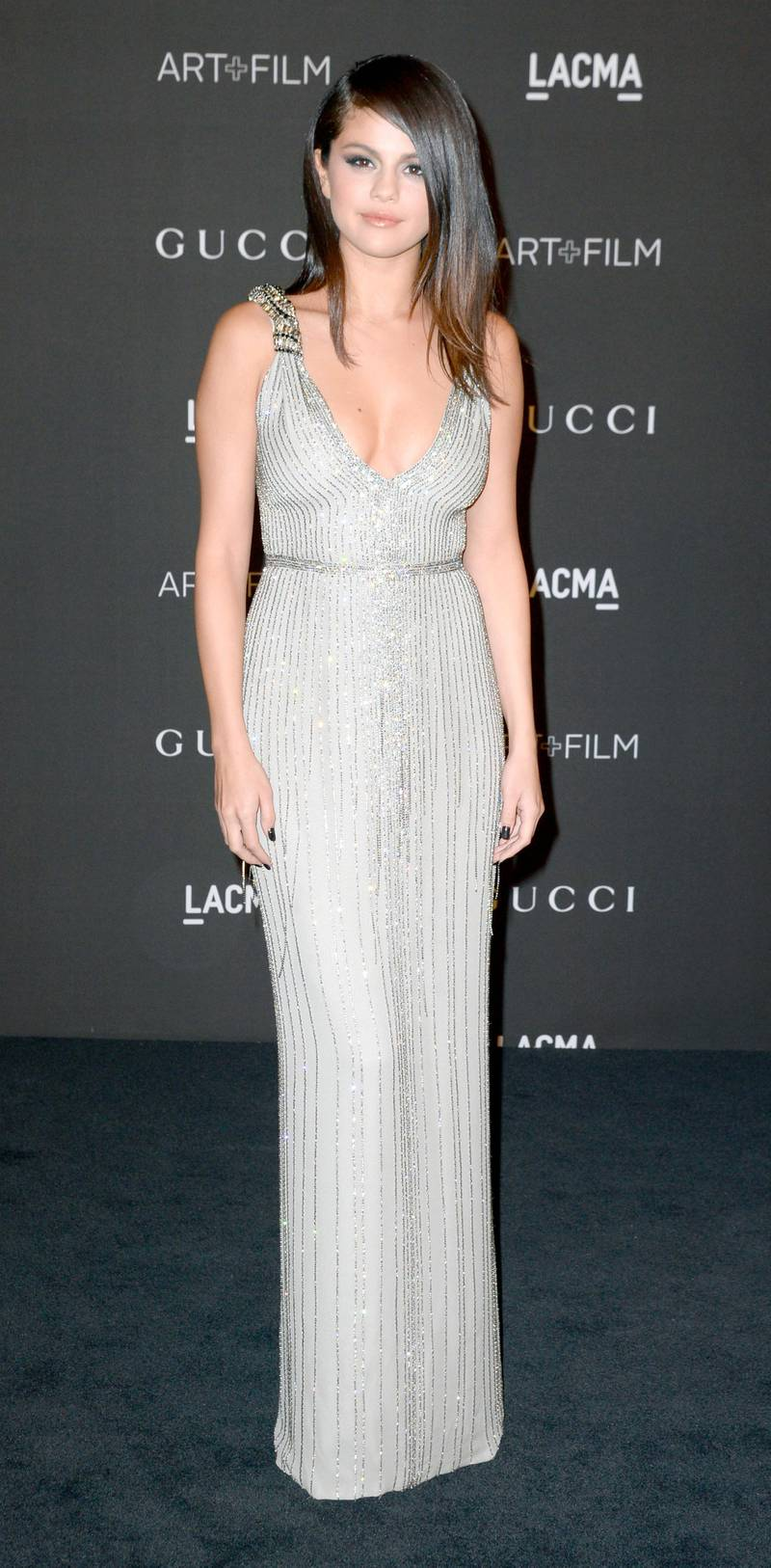 epa04472942 US actress and singer Selena Gomez arrives for the 2014 LACMA Art + Film Gala at the Los Angeles County Museum of Art (LACMA) in Los Angeles, California, USA, 01 November 2014. The event honored US artist Barbara Kruger and US director Quentin Tarantino.  EPA/MICHAEL NELSON
