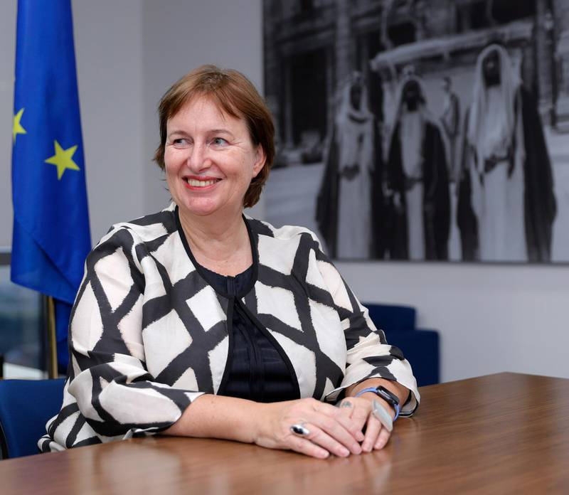 Abu Dhabi, United Arab Emirates, October 30, 2019.  Interview with Susanna Terstal, EU Special Representative on the Middle East peace process.Victor Besa/The NationalSection:  WOReporter:  Khaled Yacoub Oweis