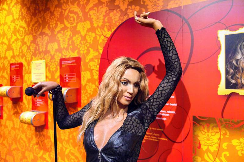 PARDA1 AMSTERDAM, NETHERLANDS - OCT 26, 2016: Beyonce Knowles, Madame Tussauds wax museum in Amsterdam. One of the popular touristic attractions