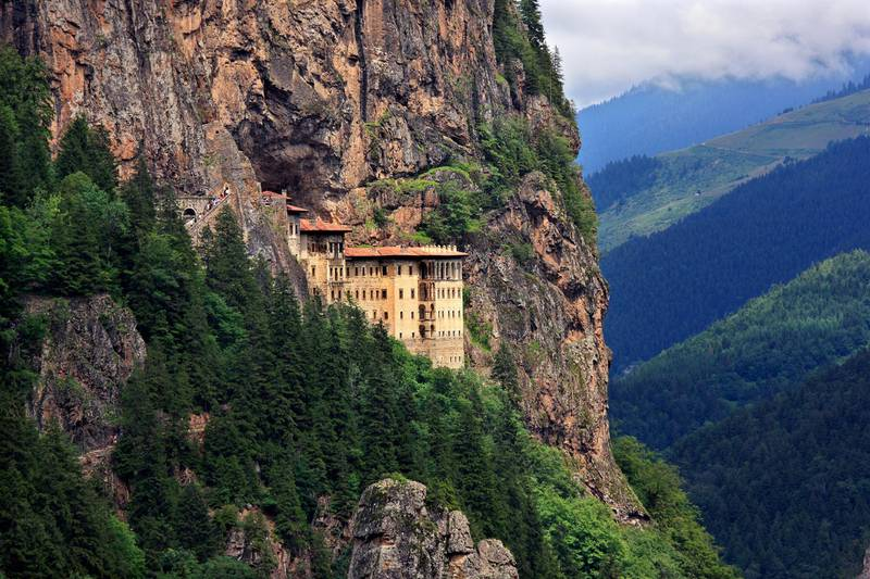 Sumela monastery one of the most impressive sights in the whole Black Sea region, in Altindere Valley, Trabzon province, Turkey. Date taken: 25.7.2010.