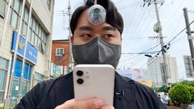 South Korean designer creates Third Eye – a 'satirical solution for smartphone zombies'
