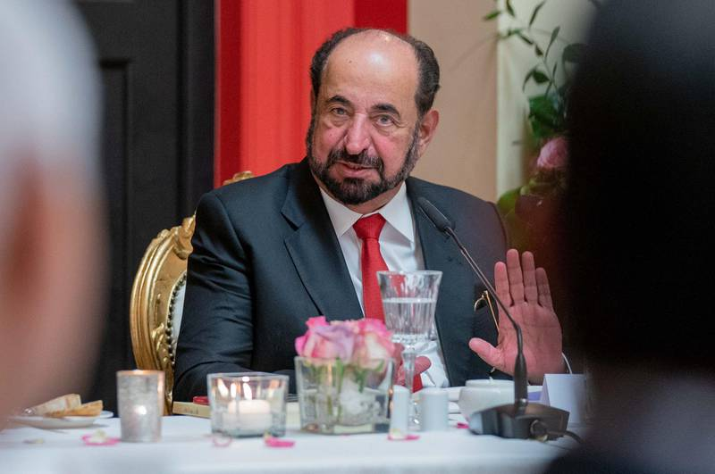 Sheikh Dr Sultan bin Mohammed Al Qasimi hosted an exclusive dinner to present his latest novel  at the Literaturhaus in Frankfurt. Wam