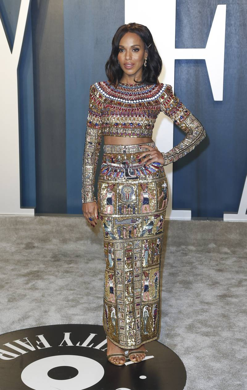 epa08208131 Kerry Washington attends the 2020 Vanity Fair Oscar Party following the 92nd annual Academy Awards ceremony, in Beverly Hills, California, USA, 09 February 2020. The Oscars are presented for outstanding individual or collective efforts in filmmaking in 24 categories.  EPA-EFE/RINGO CHIU