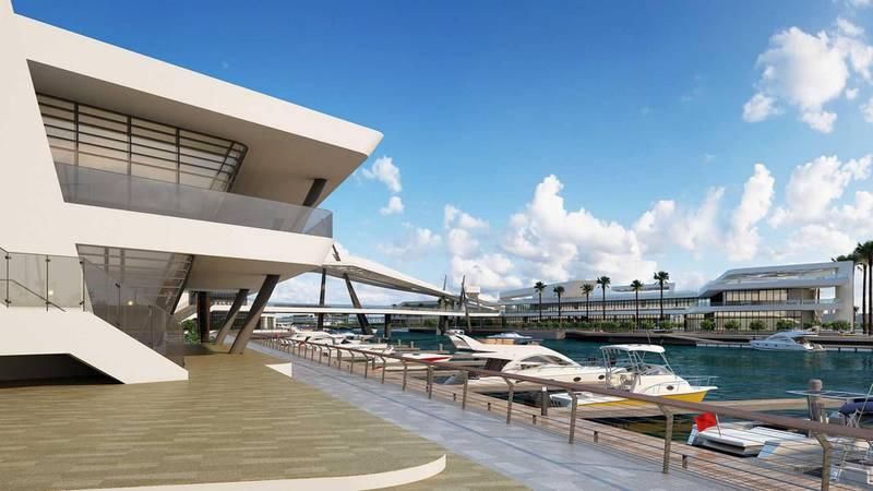 Al Qana - Marina and docks. Courtesy Department of Urban Planning and Municipalities and Al Barakah International Investment
