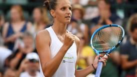 'Lucky' Karolina Pliskova expects tough time at Wimbledon despite being top women's seed remaining