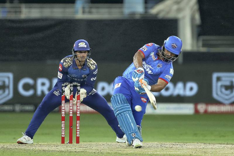 Rishabh Pant of Delhi Capitals during the final of season 13 of the Dream 11 Indian Premier League (IPL) between the Mumbai Indians and the Delhi Capitals held at the Dubai International Cricket Stadium, Dubai in the United Arab Emirates on the 10th November 2020.  Photo by: Ron Gaunt  / Sportzpics for BCCI