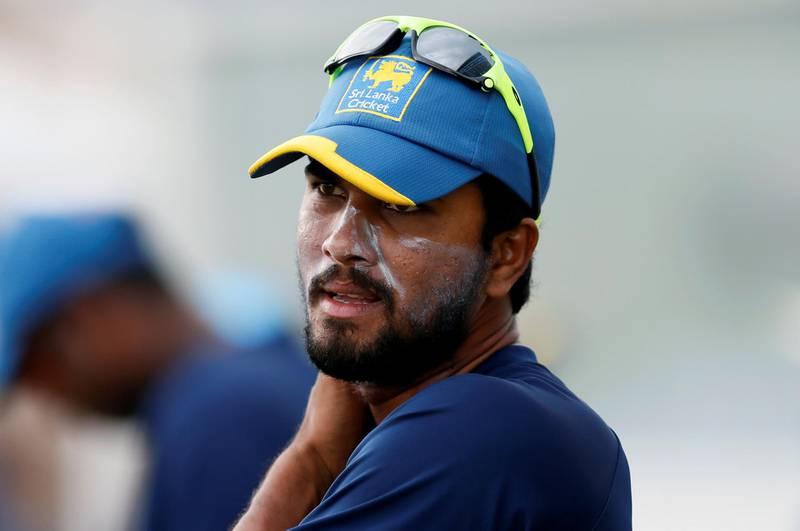 Cricket - Sri Lanka v South Africa Ð Sri Lanka Team's Practice Session - Galle, Sri Lanka Ð July 11, 2018 Ð Sri Lanka's captain Dinesh Chandimal looks on during a practice session ahead of their first test cricket match against South Africa. REUTERS/Dinuka Liyanawatte