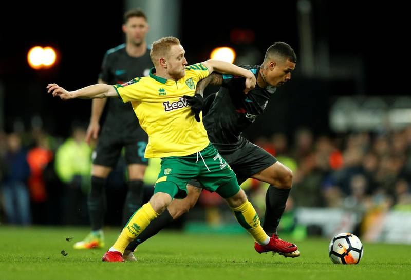 Soccer Football - FA Cup Third Round - Norwich City vs Chelsea - Carrow Road, Norwich, Britain - January 6, 2018   Chelsea's Kenedy in action with Norwich City's Alex Pritchard    Action Images via Reuters/John Sibley