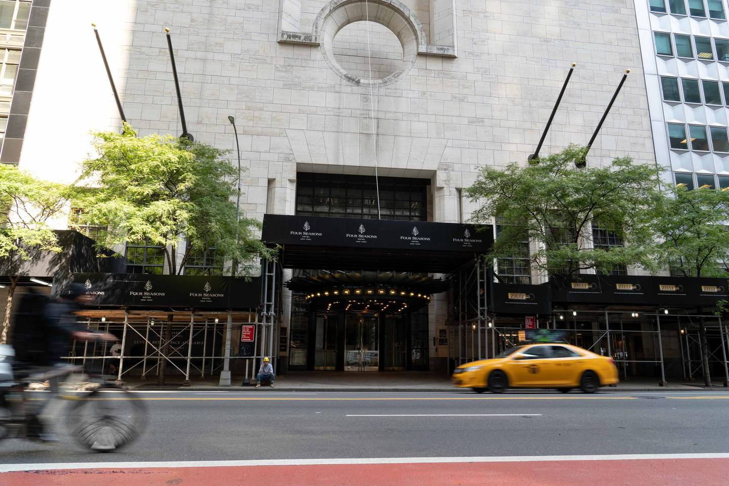 More than 200 hotels across New York City, including the Four Seasons New York, remain closed. Credit: Sophie Tremblay