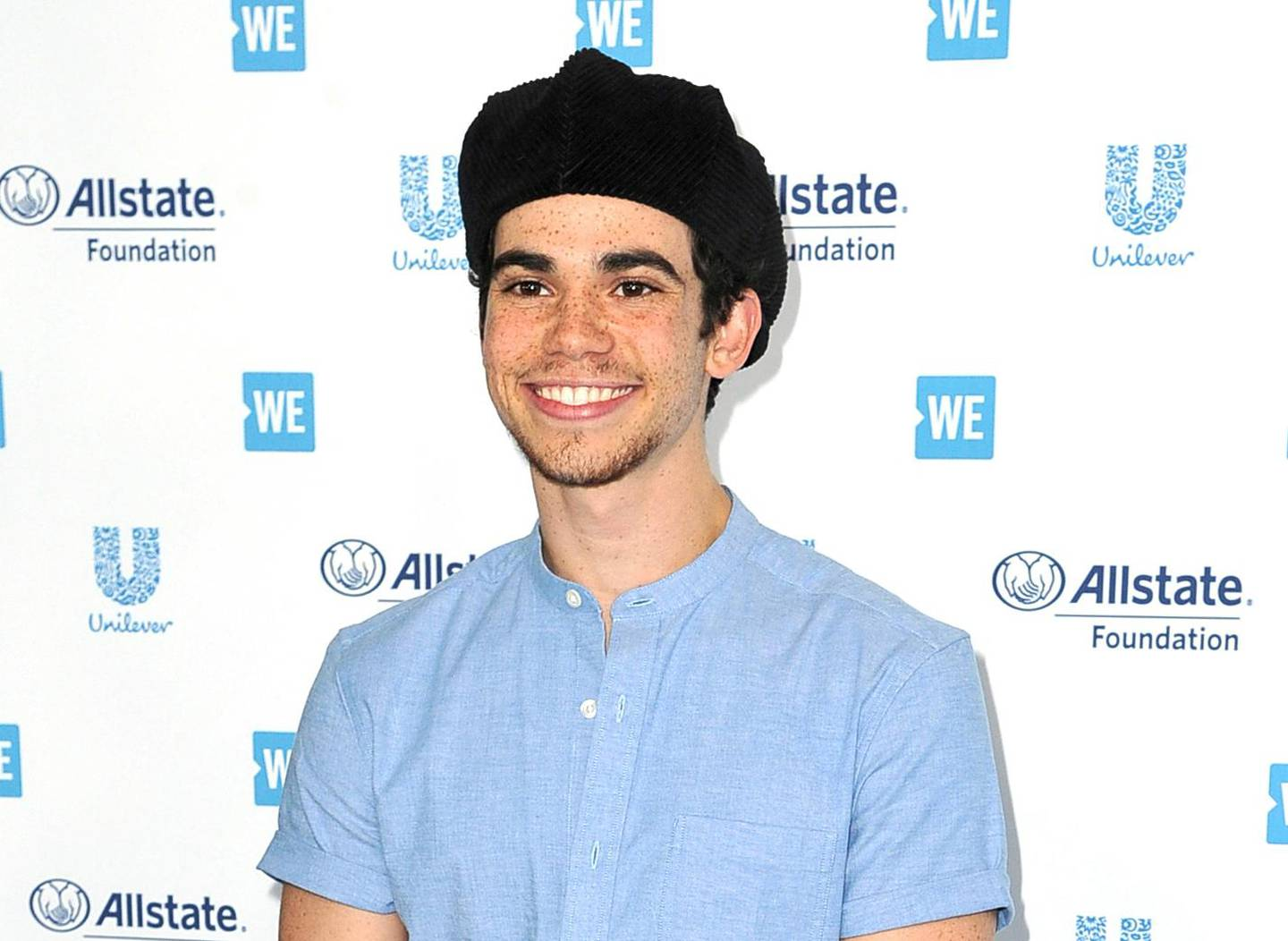 FILE - This April 25, 2019 file photo shows actor Cameron Boyce at WE Day California in Inglewood, Calif. Los Angeles coroners officials said Tuesday, July 30, 2019, that Boyce died unexpectedly from epilepsy. He was pronounced dead at his home on July 6. (Photo by Richard Shotwell/Invision/AP, File)