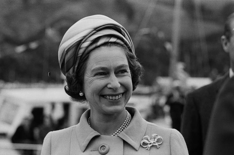 Queen Elizabeth II during a visit to New Zealand, March 1970. (Photo by William Lovelace/Daily Express/Getty Images)