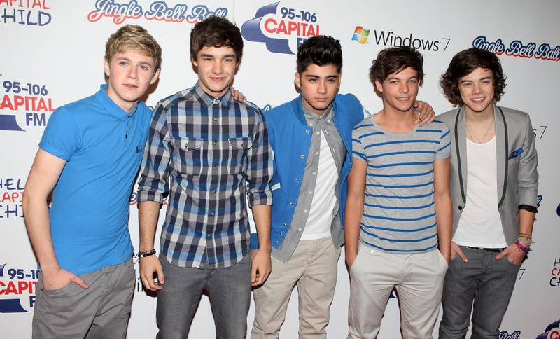 LONDON, ENGLAND - DECEMBER 04:  Niall Horan, Liam Payne, Zayne Malik, Louis Tomlinson and Harry Styles of One Direction attend day two of Jingle Bell Ball at O2 Arena on December 4, 2011 in London, England.  (Photo by Tim Whitby/Getty Images)