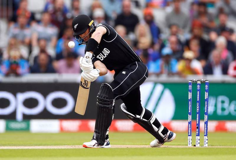 Cricket - ICC Cricket World Cup Semi Final - India v New Zealand - Old Trafford, Manchester, Britain - July 9, 2019   New Zealand's Martin Guptill in action   Action Images via Reuters/Jason Cairnduff