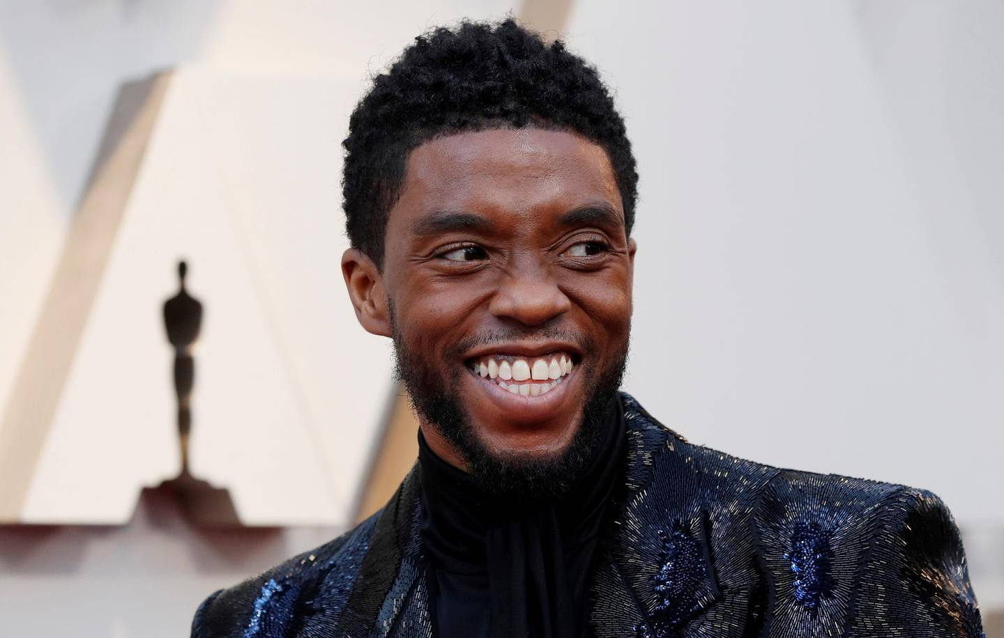 """FILE PHOTO: 91st Academy Awards - Oscars Arrivals - Red Carpet - Hollywood, Los Angeles, California, U.S., February 24, 2019.  Actor Chadwick Boseman of """"Black Panther"""" wears Givenchy. REUTERS/Mario Anzuoni/File Photo"""