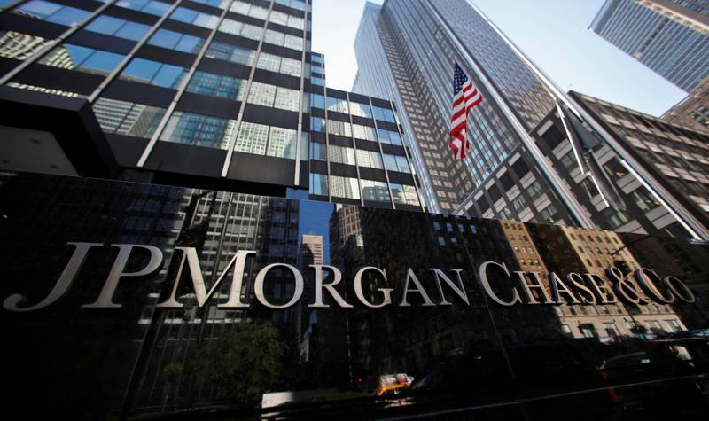 FILE PHOTO: A sign outside the headquarters of JP Morgan Chase & Co in New York, September 19, 2013. REUTERS/Mike Segar/File Photo