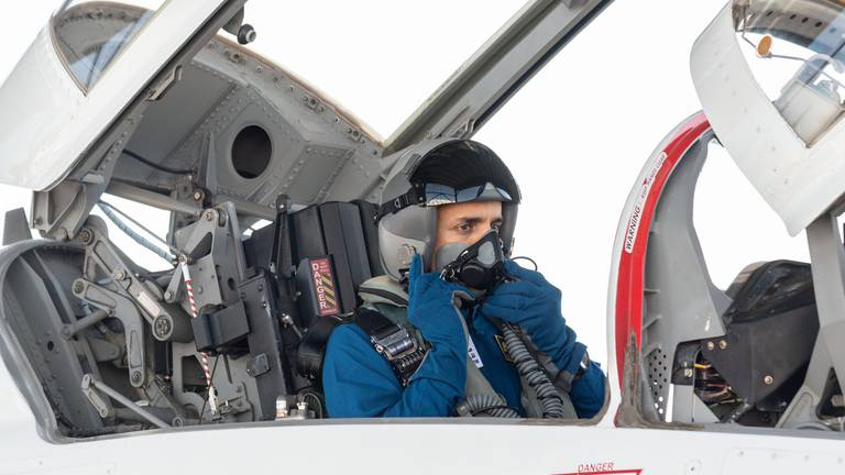 An image that illustrates this article UAE astronaut completes Nasa's supersonic jet training