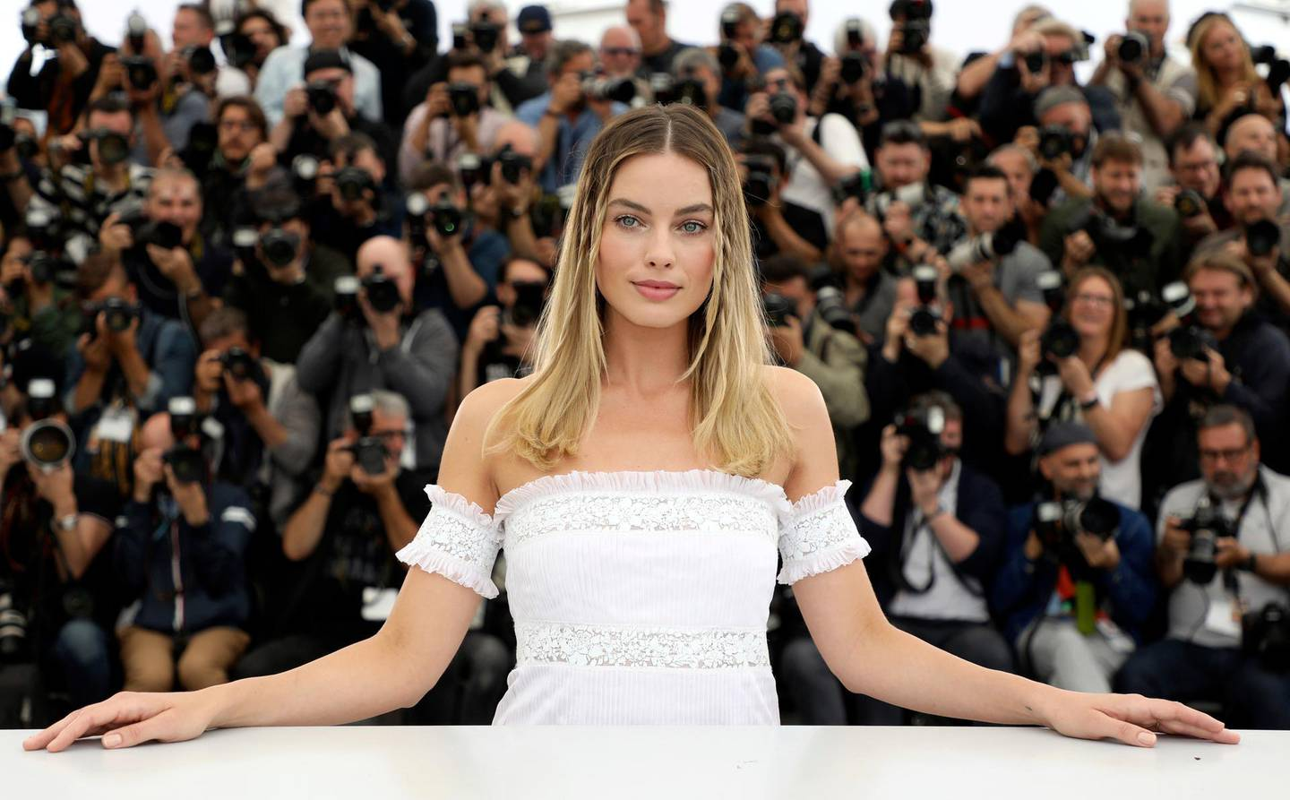 """FILE - In this May 22, 2019 file photo, Margot Robbie poses for photographers at the photo call for the film """"Once Upon a Time in Hollywood"""" at the 72nd international film festival, Cannes, southern France. Robbie turns 30 on July 2. (Photo by Vianney Le Caer/Invision/AP, File)"""