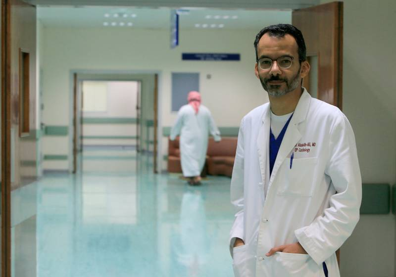 ABU DHABI - UNITED ARAB EMIRATES - 28SEPT2015 - Dr. Alawi Alsheikh-Ali, Consultant Cardiology and Electrophysiology and Chairman of Institute of Cardiac Sciences at Sheikh Khalifa Medical City in Abu Dhabi. Ravindranath K / The National (to go with Anam story for News) *** Local Caption ***  RK2809-PaediatricHeart07.jpg