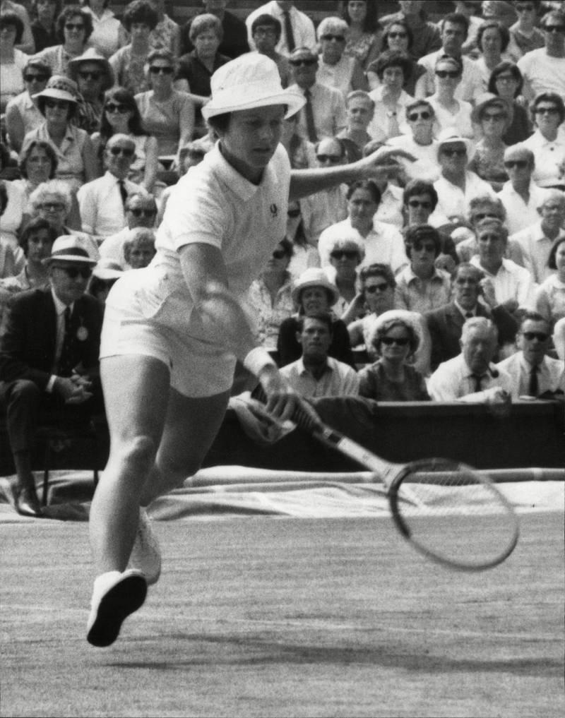 Mandatory Credit: Photo by David Thorpe/ANL/Shutterstock (3797015a) Tennis Player Nancy Gunter (nee Nancy Richey) In Action 1970. Tennis Player Nancy Gunter (nee Nancy Richey) In Action 1970.