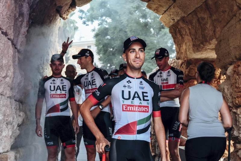 Vuelta - team shot behind the scene