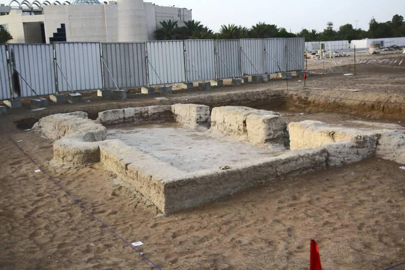 The early Islamic mosque in Al Ain. Courtesy DCT Abu Dhabi