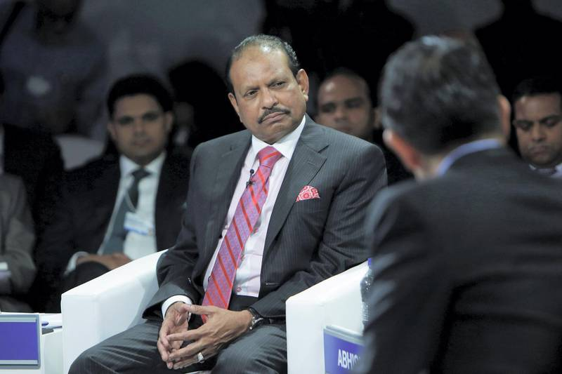 Yusuff Ali, chairman and managing director of Lulu Group International, attends the World Economic Forum (WEF) India Economic Summit in New Delhi, India, on Thursday, Oct. 6, 2016. The summit runs until October 7. Photographer: Anindito Mukherjee/Bloomberg
