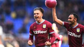 Aston Villa captain Jack Grealish scores winning goal after being punched by Birmingham fan