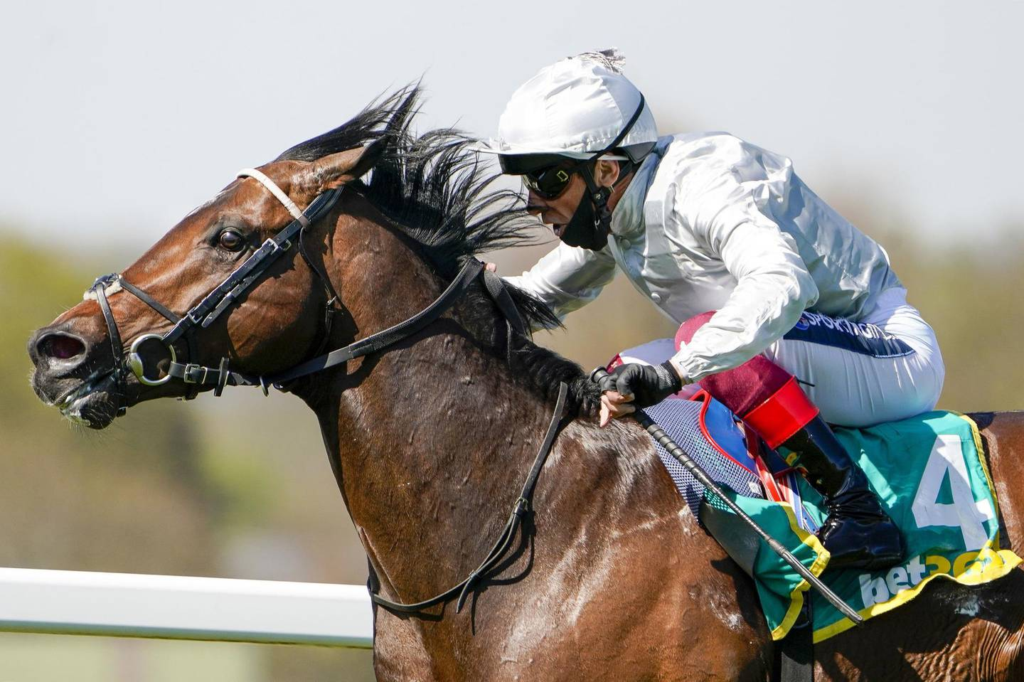 File photo dated 23-04-2021 of Frankie Dettori riding Palace Pier win The bet365 Mile at Sandown Park Racecourse. Issue date: Wednesday June 9, 2021. PA Photo. Palace Pier will face a maximum of 11 rivals when he bids for back-to-back Group One victories at Royal Ascot in the Queen Anne Stakes. See PA story RACING Ascot Tuesday. Photo credit should read Alan Crowhurst/PA Wire.