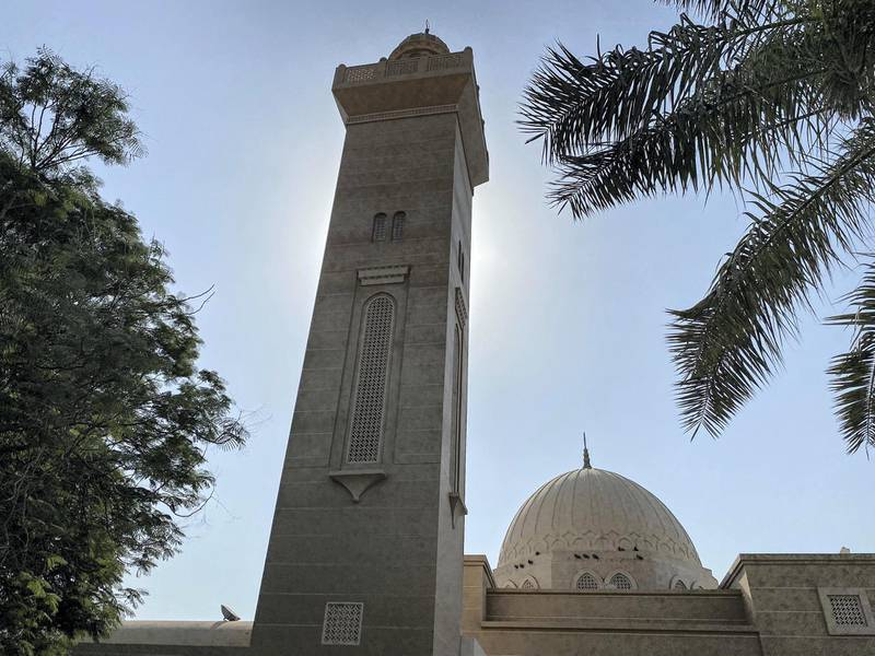 DUBAI UNITED ARAB EMIRATES. 17 NOVEMBER 2020.Community guide: Arabian Ranches. The local mosque is a poular landmark in the Ranches. (Photo: Antonie Robertson/The National) Journalist: Sarwat Nasir. Section: National.