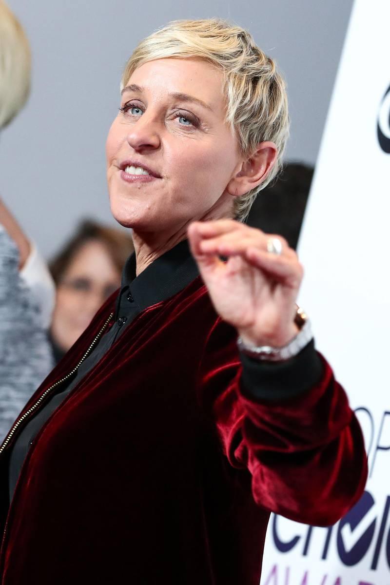 Mandatory Credit: Photo by John Salangsang/BFA/REX/Shutterstock (7902765z)Ellen DeGeneres43rd Annual People's Choice Awards, Press Room, Los Angeles, USA - 18 Jan 2017