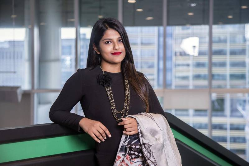 Ankiti Bose, co-founder and CEO of Zilingo, poses for a photograph in Singapore, on Monday, Feb 11, 2019. Photographer: Ore Huiying/Bloomberg