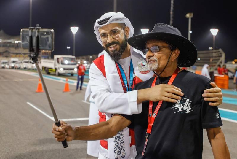 Abu Dhabi, United Arab Emirates, December 1, 2019.   Formula 1 Etihad Airways Abu Dhabi Grand Prix. --  F1 fans at the awards ceremony. Victor Besa / The National Section:  SP Reporter:  Simon Wilgress-Pipe
