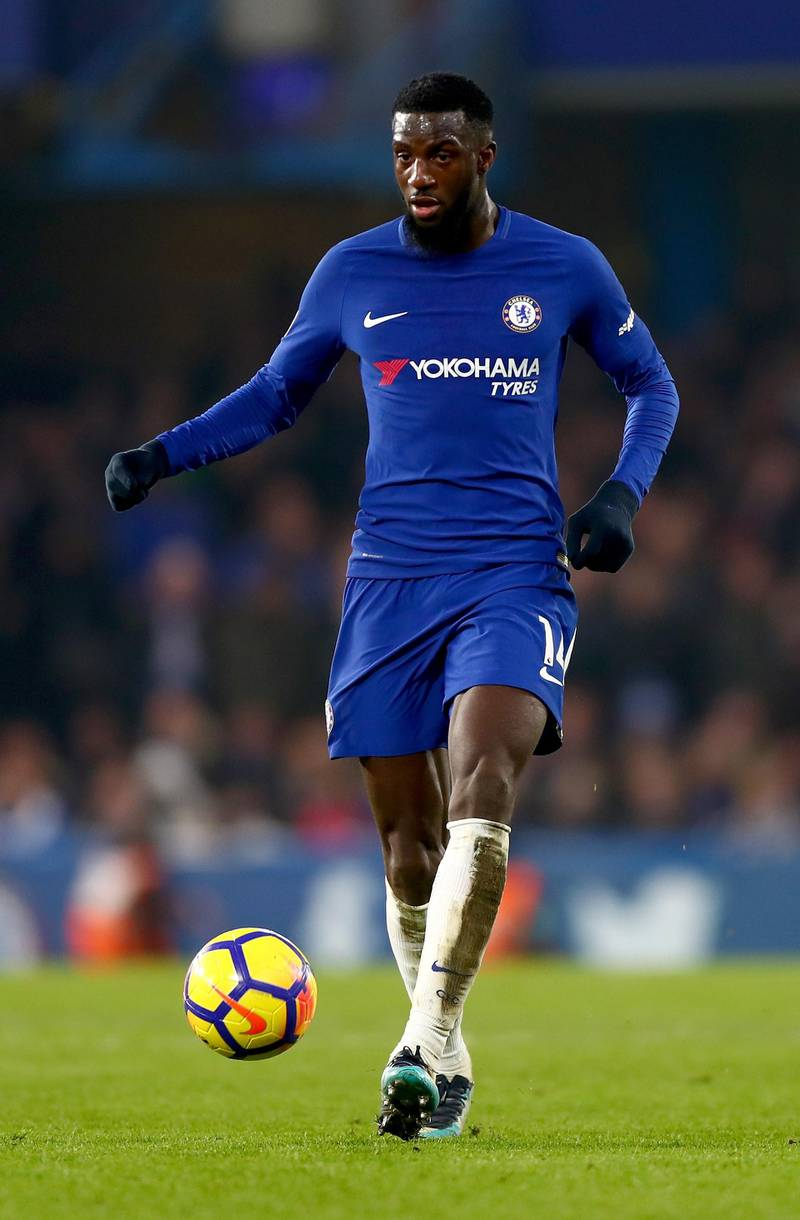 LONDON, ENGLAND - JANUARY 13:  Tiemoue Bakayoko of Chelsea in action during the Premier League match between Chelsea and Leicester City at Stamford Bridge on January 13, 2018 in London, England.  (Photo by Clive Rose/Getty Images)