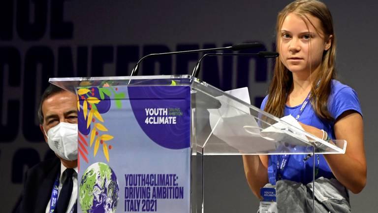 An image that illustrates this article Greta Thunberg blasts world leaders' 'blah, blah, blah'